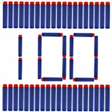100 bullets 10 - Nerf Darts Soft Foam Nerf Bullets 100 PCS Refill Pack for Nerf N-Strike Elite Series Blasters Toy Gun - Blue with Storage Bag