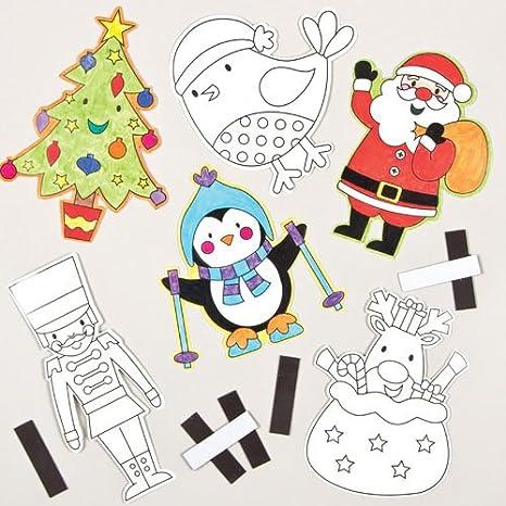 Amazon クリスマス ぬりえマグネット12個入り子どもたちの工作に