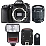 Canon EOS 80D 24.2MP Digtal SLR Camera with 18-55mm IS STM Lens , TTL Speedlite Flash and Accessories