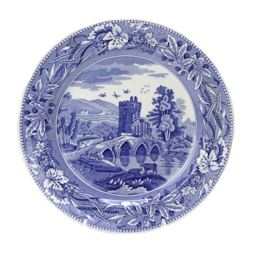 Room Plate Blue Dinner Collection (Blue Room Collection by Spode, Stoneware Dinner Plate, Lucano)