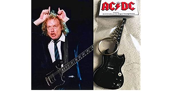 Llavero de guitarra Gibson Sg Ebony Angus Young AcDC: Amazon ...