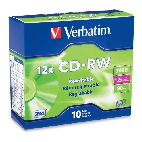 Verbatim 12x CD-RW Media - G35484