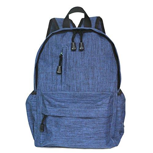 Heheja Lona Escolares Mochila Color Sólido Ordenador Mochila Ocio Viaje Deportes Bolsa Azul