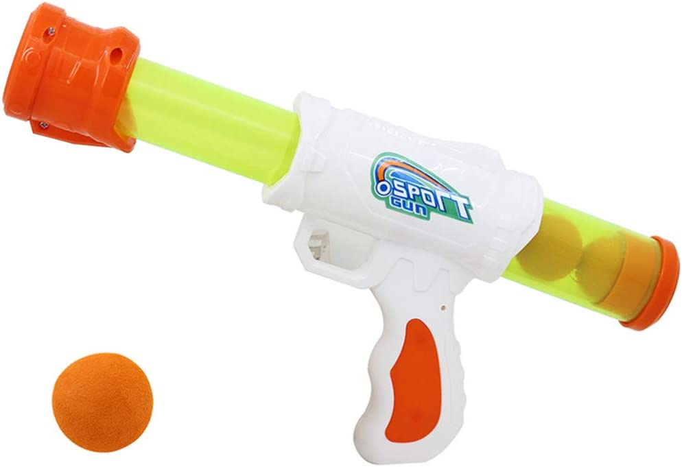 NUOBESTY Power Popper Gun Battle Pack Foam Ball Air Powered Shooter Pistolas de Juguete para niños Juegos de rol Juguetes de Fiesta para niños Regalo para Navidad (Color Aleatorio)