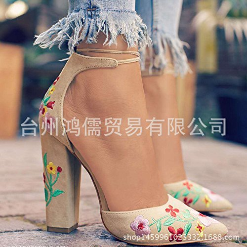 Donyyyy Bordados super talón para zapatos de mujer Thirty-five