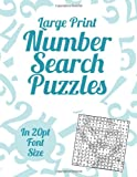 Large Print Number Search Puzzles, Clarity Media, 1491012358