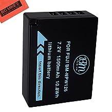 BM Premium NP-W126 Battery For Fujifilm FinePix X-Pro1, X-Pro2, HS30EXR, HS33EXR, HS35EXR, HS50EXR, X-A1, X-A2, X-E1, X-E2, X-E2S, 1 X-M1, X-T1, X-T10 Digital Camera