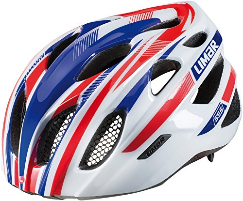 Limar 555 Road Helmets - All Around - In Mould - Large (57-61Cm) - White/Red/Bl