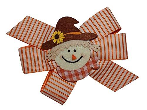 WD2U Girls Sunflower Scarecrow Harvest Thanksgiving Hair Bow Alligator -