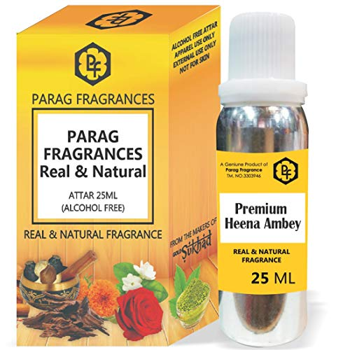SHINE MILL Parag Fragrances 25ml Premium Heena Ambey Attar with Fancy Empty Bottle (Alcohol Free, Long Lasting, Natural Attar) Also Available in 50/100/200/500 Pack