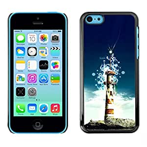 All Phone Most Case / Oferta Especial Duro Teléfono Inteligente PC Cáscara Funda Cubierta de proteccion Caso / Hard Case iPhone 5C // Lighthouse Island