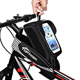 Bike Bag Waterproof Bicycle Top Tube Bag Touch Screen Phone Holder for...