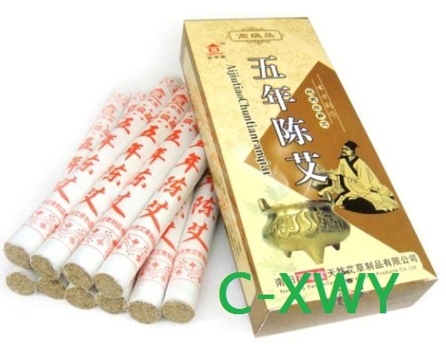 (C-XWY) Five Chen Pure Moxa Rolls for Moxibustion (2 Boxes for 20 Rolls) NANYANG