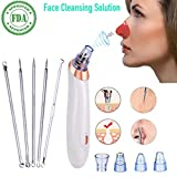 Facial Pain Light Sensitivity - Beauty Caris Blackhead Remover Kit, Pore Vacuum Suction Cleaner, Comedone Extraction Kit, Blemish Extractor, Cystic Acne Extractor Tool Set, Pimple Extractor Microdermabrasion Exfoliating