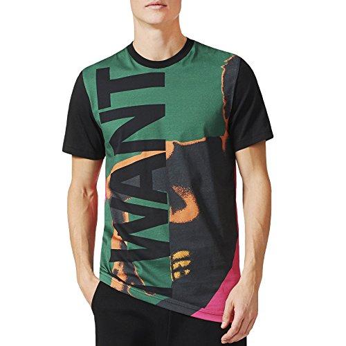 - adidas Originals Mens Archive Catalog Tee Vintage Graphics Fashion T-Shirt - S Green