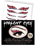Violent Eyes - Union Jack Glitteratti - Set of 8 Temporary Eye Appliques