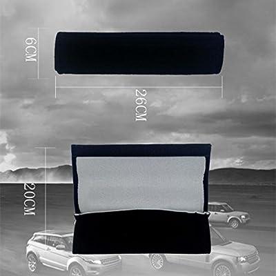 QZS Car Seat Belt Cover - 1 Pair/Set Car Seat Belt Shoulder Pads Strap Cover Cushions for BMW Cars: Automotive