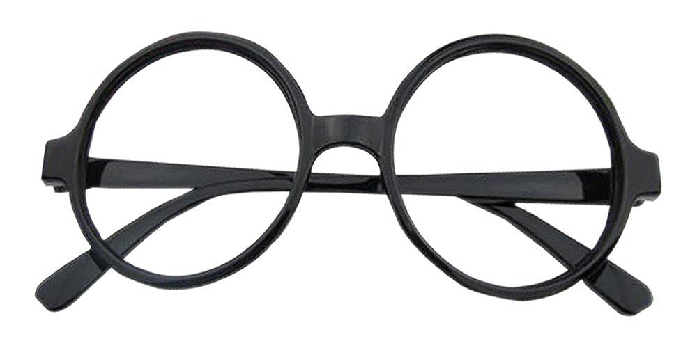 XFentech Unisex Occhiali Rotondi per Ragazze Ragazzi - Bambini Vintage Plastica senza obiettivo Moda Occhiali Montatura Azzurro
