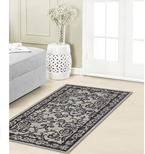 Laura Ashley Halstead Jacquard Chenille 5 x 8 Area Rug, Gray