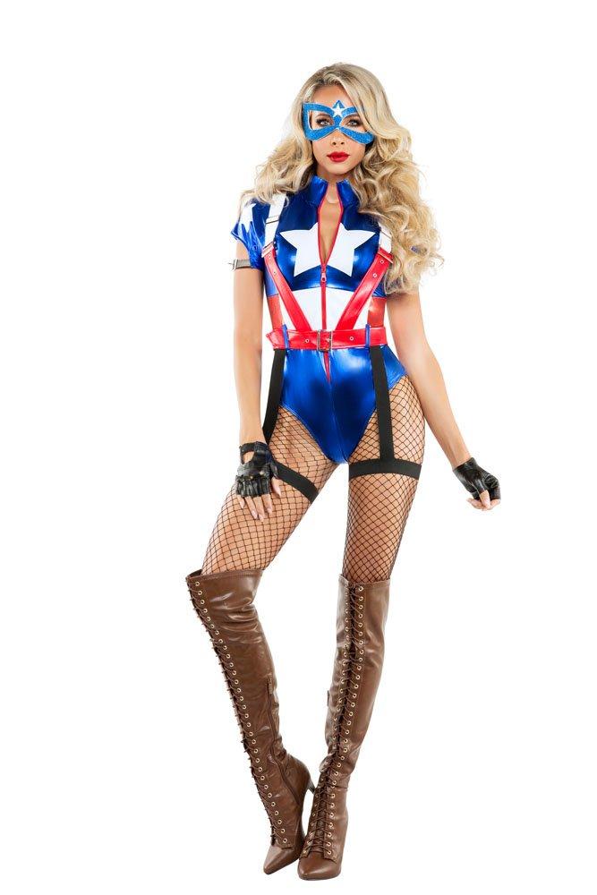 Women's Captain USA Fancy dress costume Small