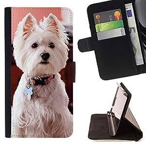 Momo Phone Case / Flip Funda de Cuero Case Cover - West Highland White Terrier perro canina; - Samsung Galaxy S6 Edge Plus / S6 Edge+ G928