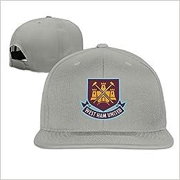 HEIYALA West Ham United Fc London Logo Fitted Flat Brim Baseball Cap Hat  Apparel 0896eedccec
