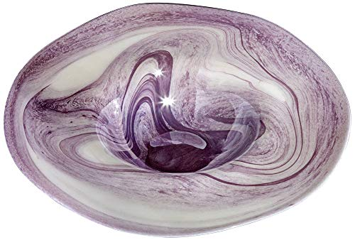 - Universal Lighting and Decor Barton Purple Swirl Curved Decorative Bowl