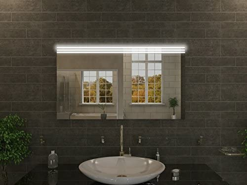 Bagno specchio con illuminazione alysia f51 n1: design specchio per