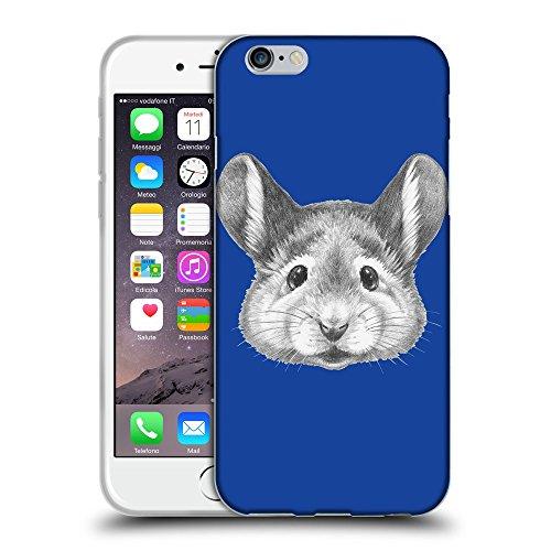 """GoGoMobile Coque de Protection TPU Silicone Case pour // Q05410613 Souris portrait Bleu // Apple iPhone 6 PLUS 5.5"""""""
