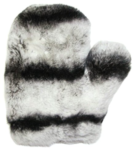 Full Skin Rex Chinchilla Love Massage Mitten-One ()