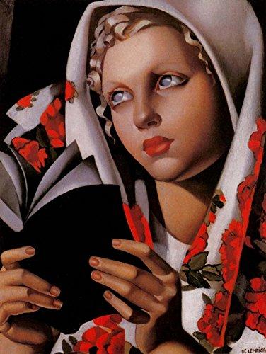 Collection Bedroom Tamara - Tamara de Lempicka - Polish Girl (La Polonaise), Canvas Art Print by YCC, Size 18x24, Non-Canvas Poster Print