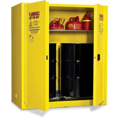 Eagle HAZ1955 Drum Storage Safety Cabinet for Flammable Liquids, 2 Door Manual Close, 110 gallon, 65