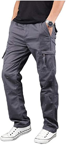VITryst Mens Relaxed-Fit Relaxed Fit Long Pants Endurance Pocket Airsoft Pants