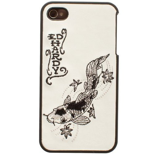 Ed Hardy Snap-On Back Cover for iPhone 4, Embroidered Koi - Ed Hardy One Piece