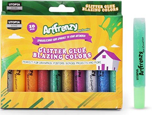 Pack of 10 Art Frenzy Glitter Glue - Glitter ...