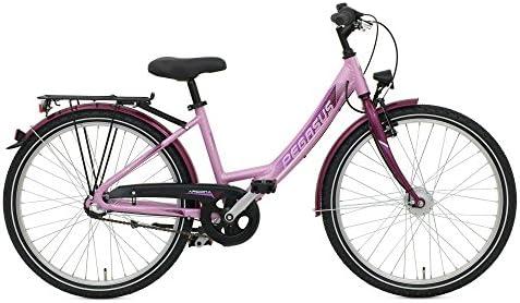 Pegasus Arcona ND 20 – Bicicleta para niña 3 marchas Shimano Bicicleta infantil STVZO, color morado, tamaño 30 cm: Amazon.es: Deportes y aire libre