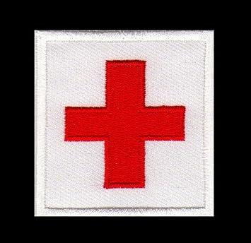 Aufnäher Bügelbild Aufbügler Iron on Patches Applikation RK Rotes ... | {Rotes kreuz symbol 95}
