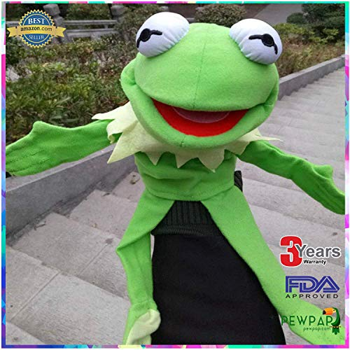 PEWPAP Muppets Most Wanted Show Kermit The Frog Plush Doll Hand Puppet Toy Gift - New 2019