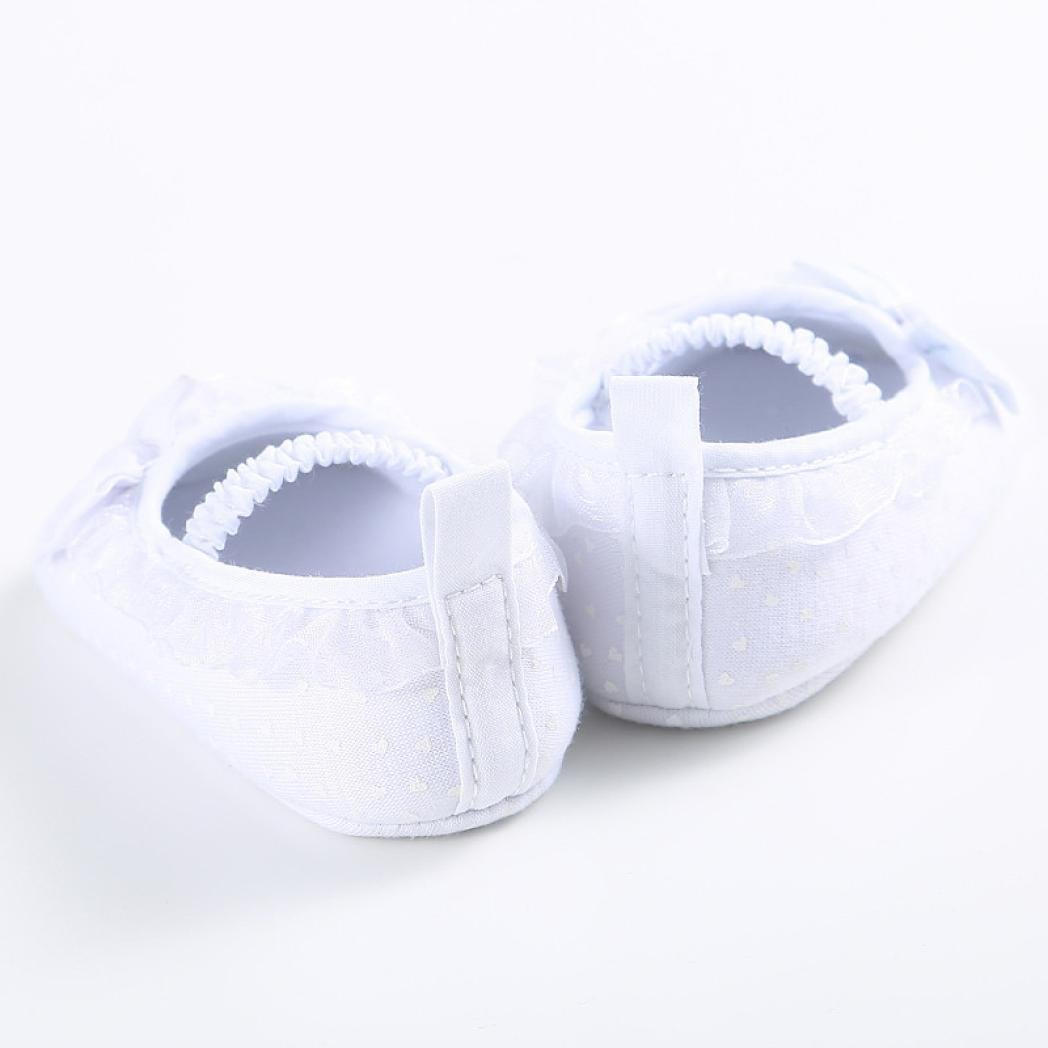 Voberry Baby Girl Bow-knot Canvas Shoes Sneaker Anti-slip Soft Sole Toddler Shoes