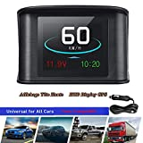 2.6'HUD GPS Vision Head UP Display Head High Intelligent Digital LCD Meter 9V to 16V Driving Speed Voltage Single Distance Driving Total Distance Driving Time Driving Speed Alarm