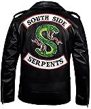 FaddyRox Riverdale Southside Serpents Black Faux Leather Jacket, XL