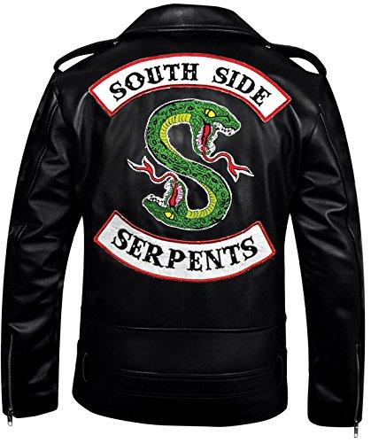 FaddyRox Riverdale Southside Serpents Black Faux Leather Jacket, XXS - 3XL