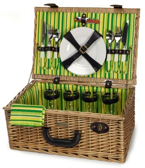 Willow Picnic Basket from Picnic and Beyond by Picnic & Beyond