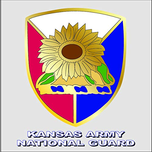 Kansas Army National Guard Unit Crest Decal