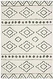 Cheap Safavieh Sparta Shag Collection SPG513C Ivory and Grey Area Rug (3′ x 5′)
