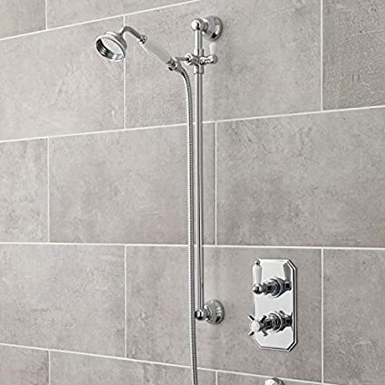 Hudson Reed Concealed Thermostatic Twin Shower Valve Faucet with ...