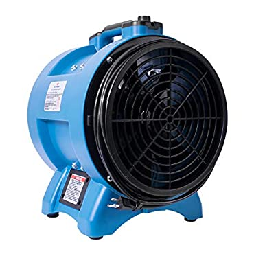 XPOWER X-12 12 in. Variable Speed Industrial Confined Space Fan, Blue