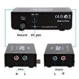 Pyle Phono Turntable Preamp - Mini Electronic Audio Stereo Phonograph Preamplifier with RCA Input, RCA Output & Low Noise Operation Powered by 12 Volt DC Adapter - PP999