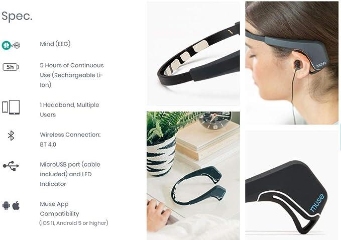 Used Working MUSE The Brain Sensing Headband Easy Meditation MU-02-WH-EN White