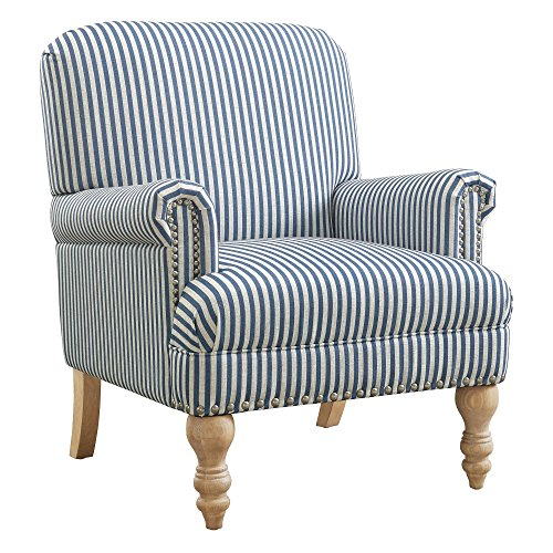 Dorel Living Jaya Accent Chair, Blue